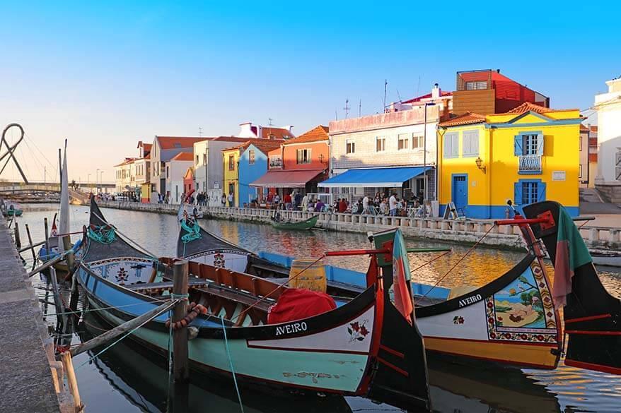 Aveiro town in Portugal