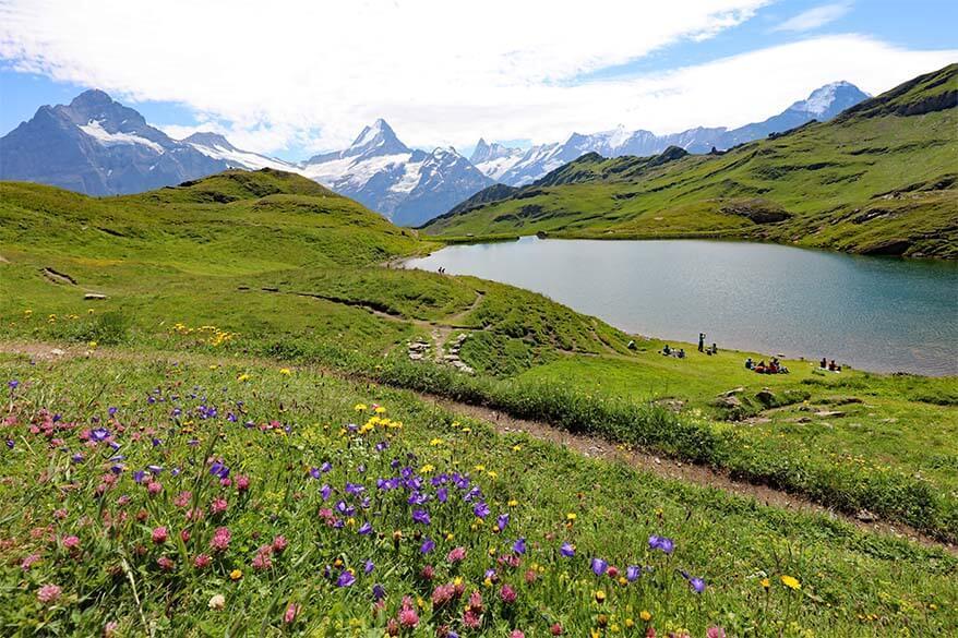 Bachalpsee near First in Grindelwald Switzerland