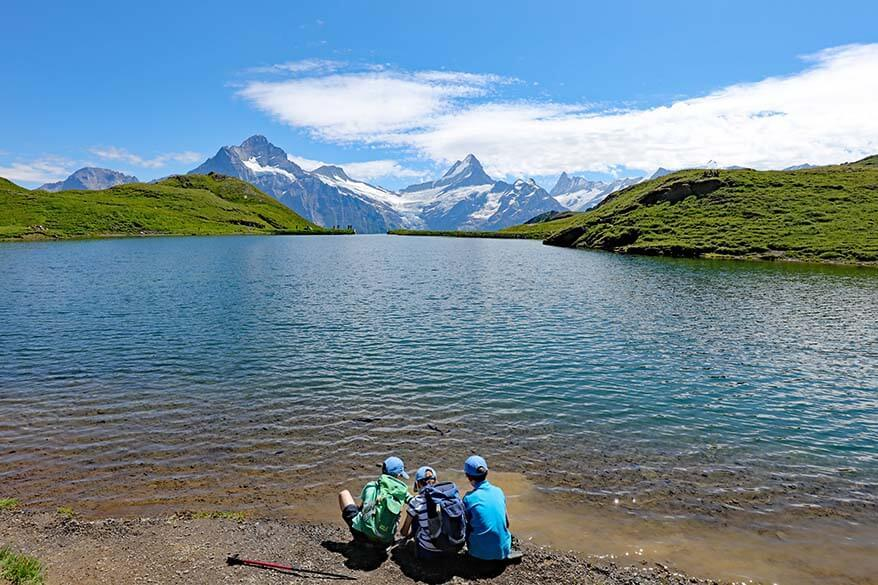 Bachalpsee with kids