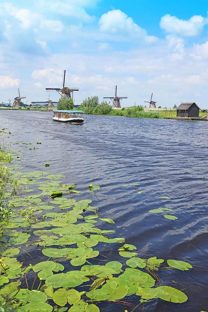 Boat tour in Kinderdijk