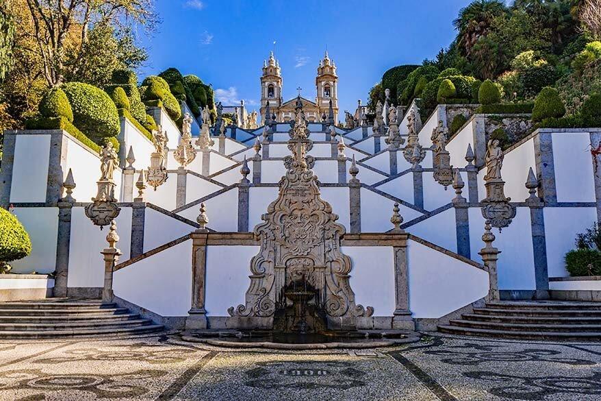 Bom Jesus do Monte in Braga town in Portugal