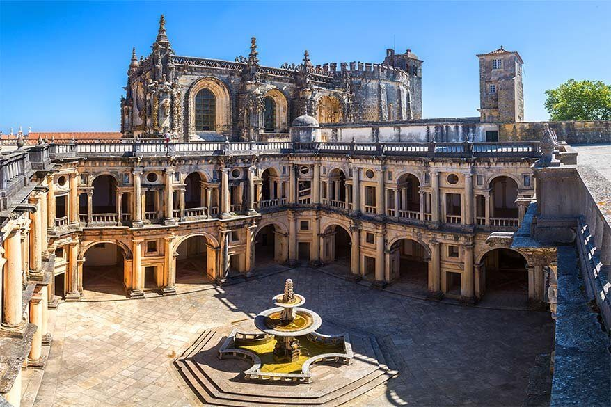 Convent of Christ in Tomar town in Portugal