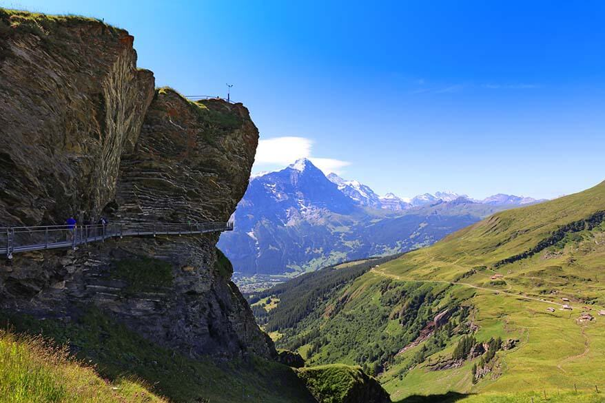 First Cliff Walk in Grindelwald Switzerland