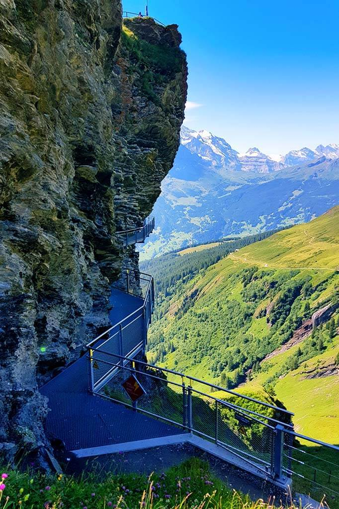 First Cliff Walk in Grindelwald