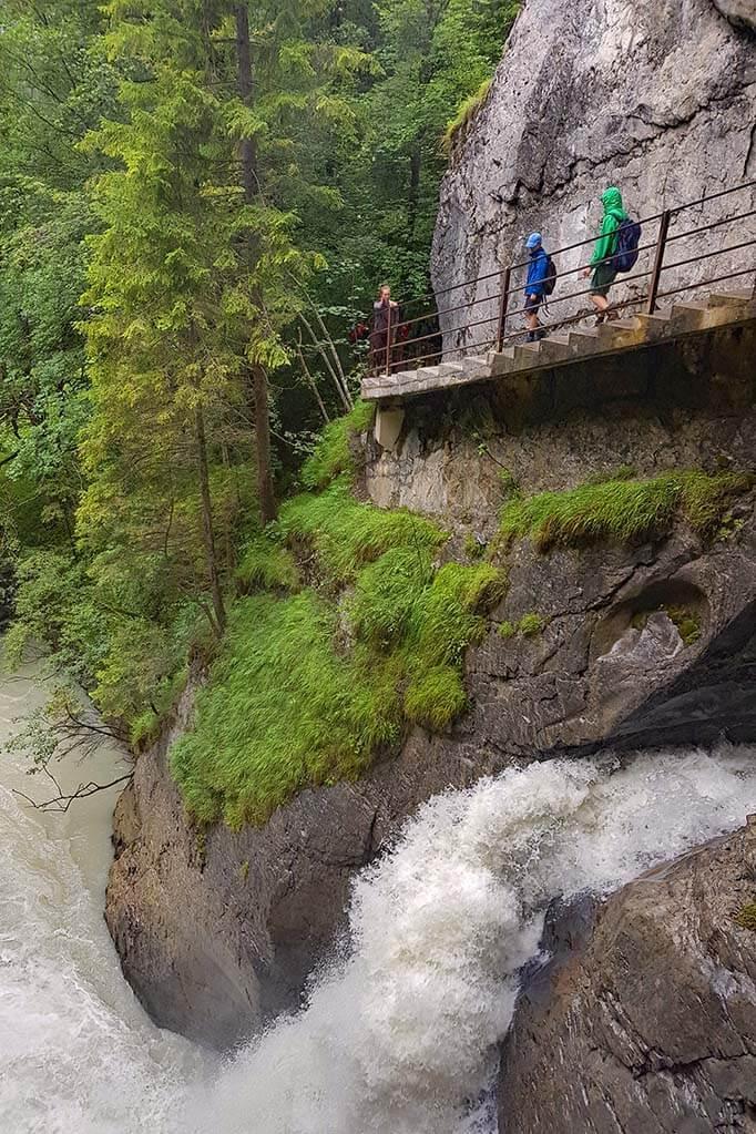 Hiking at Trummelbach Waterfalls