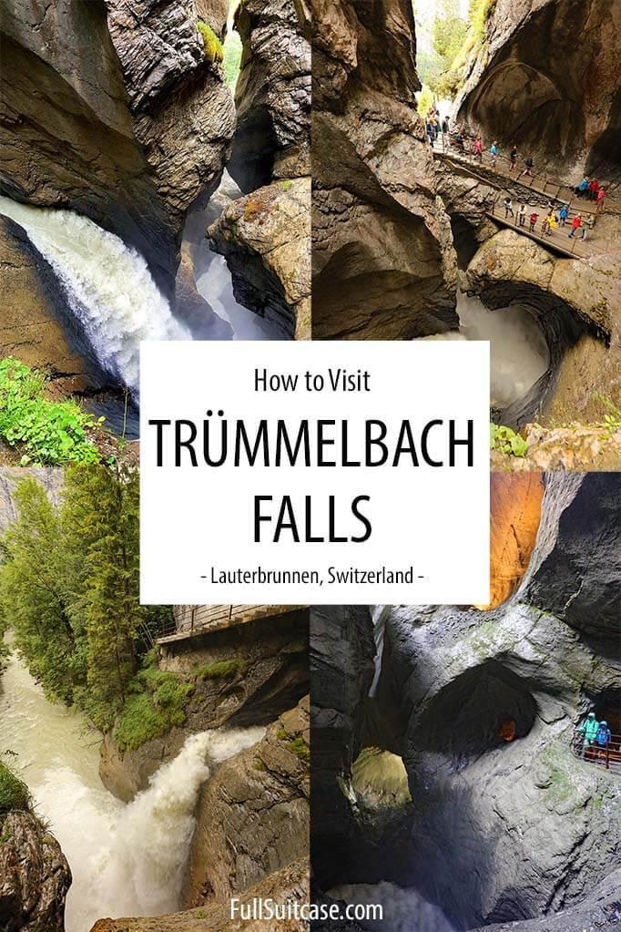 How to visit Trummelbach Falls in Lauterbrunnen, Switzerland