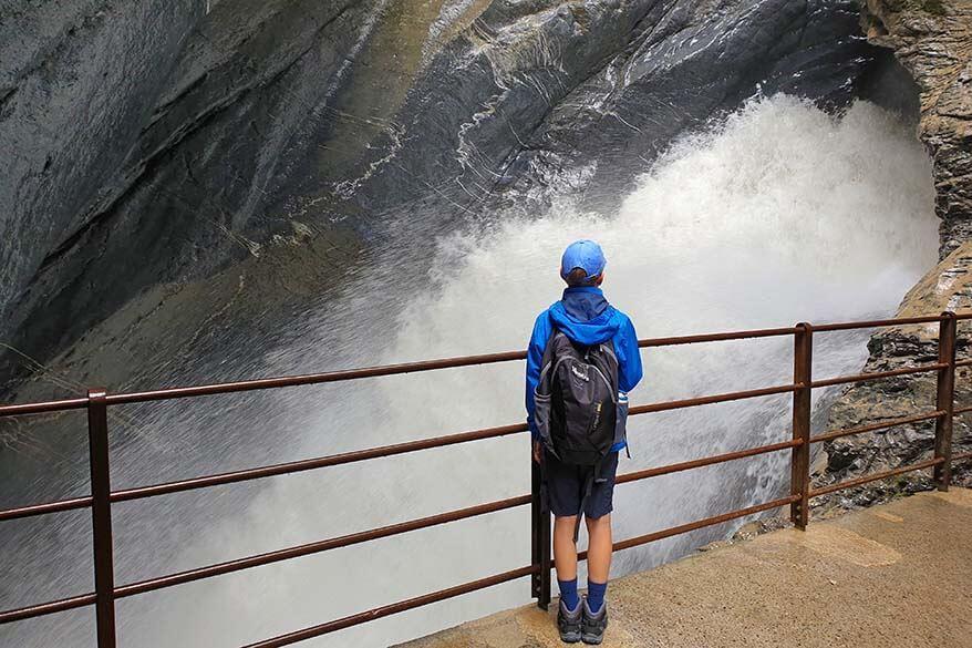 Trummelbach Falls with kids