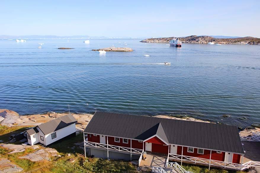 Ilulissat harbor as seen from Hotel Hvide Falke