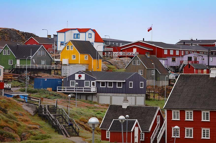 Ilulissat town in Greenland