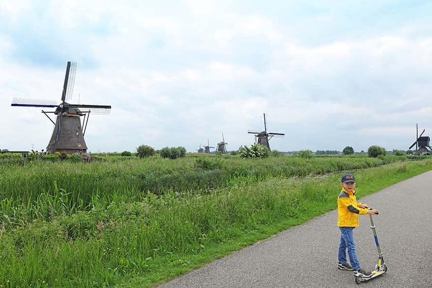 Kinderdijk with kids