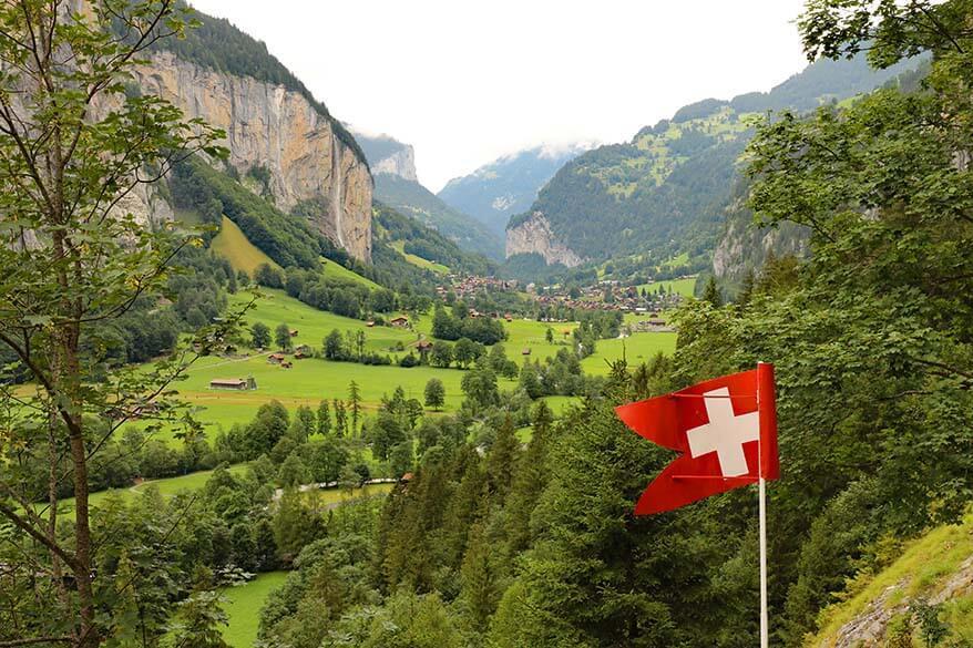Lauterbrunnen Valley as seen from Trummelbach Falls