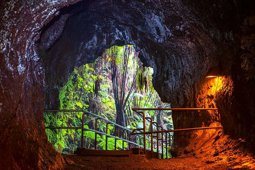 Lava Tube at Hawaii Volcanoes National Park