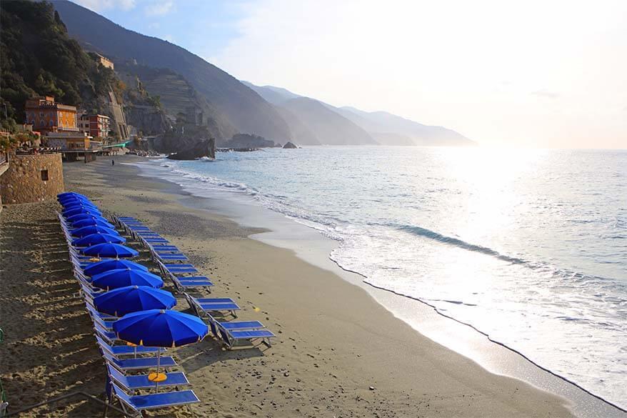 Monterosso al Mare beach - best beach in Cinque Terre
