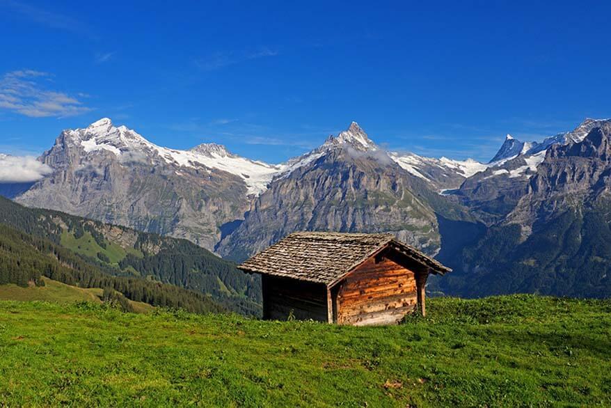 Mountain scenery near Faulhorn in Switzerland