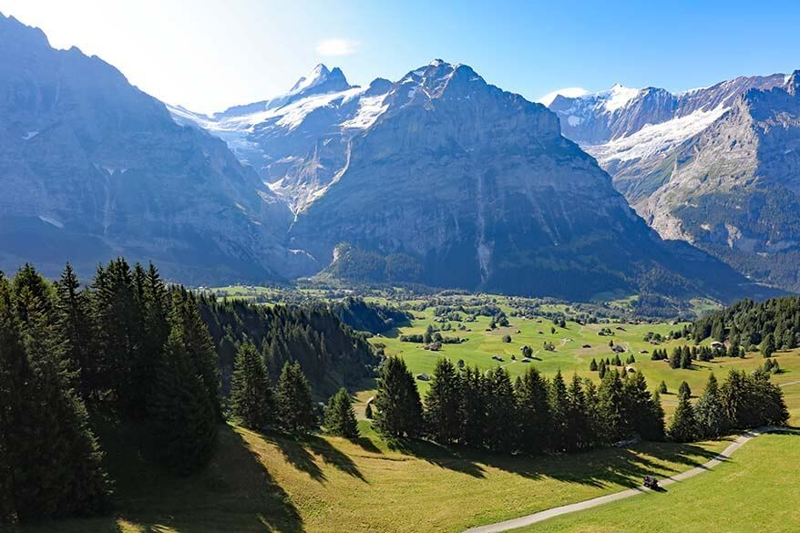Mountain views from Grindelwald-First cable car