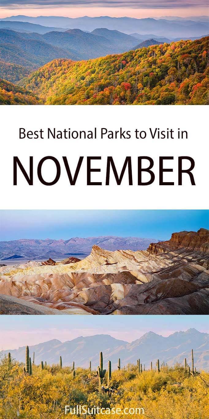 National Parks in November