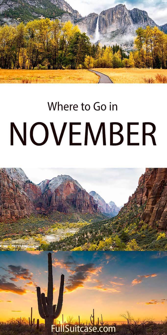 November holidays inspiration - great National Parks to visit in the fall