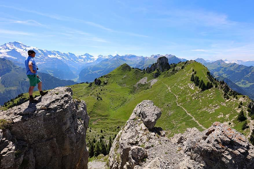 Oberberghorn viewpoint - best hike at Schynige Platte