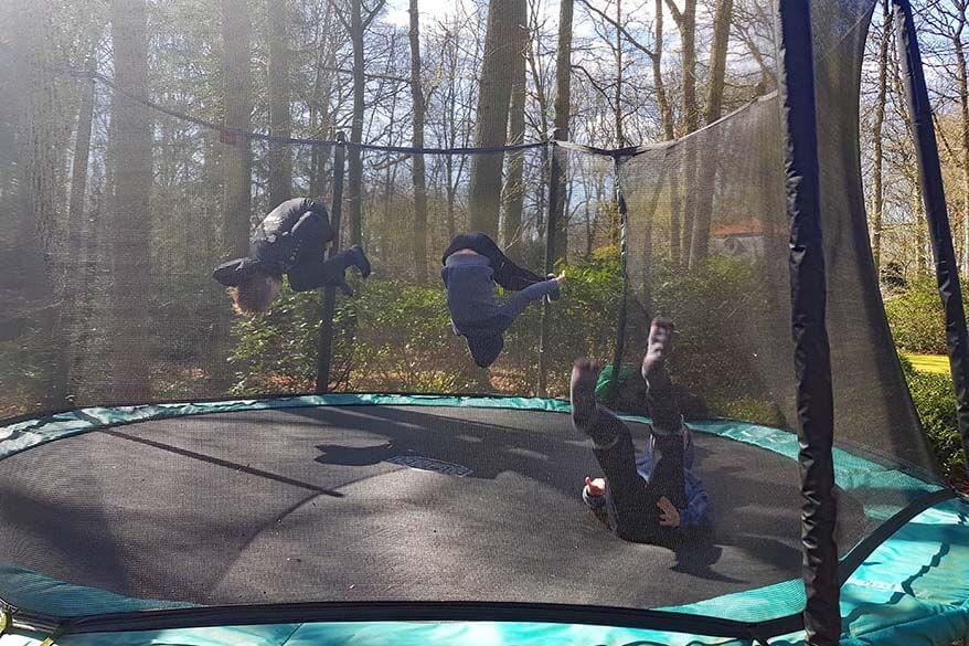 Quarantine day 24 - kids jumping on the trampoline