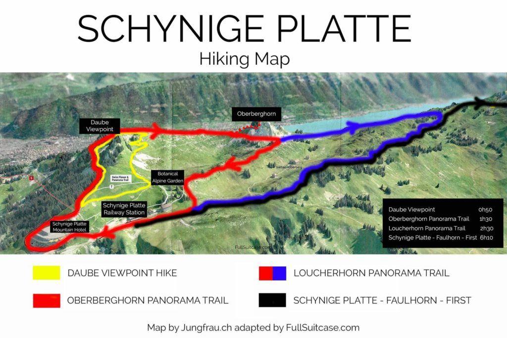 Schynige Platte hiking map
