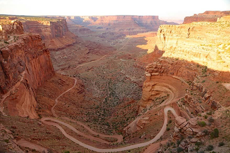 Shafer Canyon Road Overlook in Canyonlands National Park