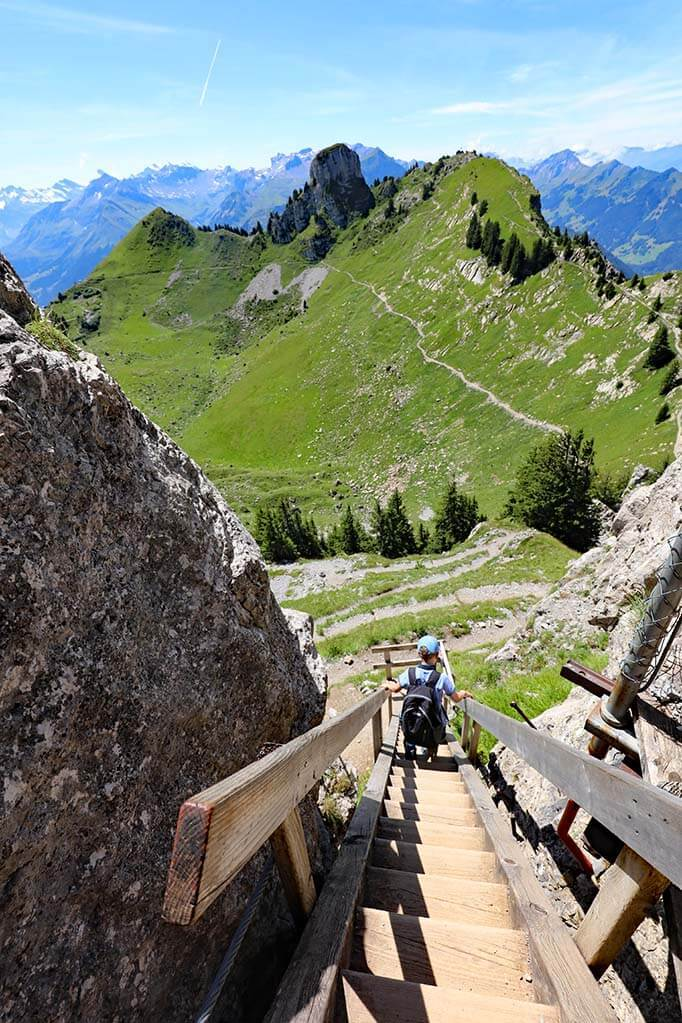 Staircase at Oberberghorn viewpoint
