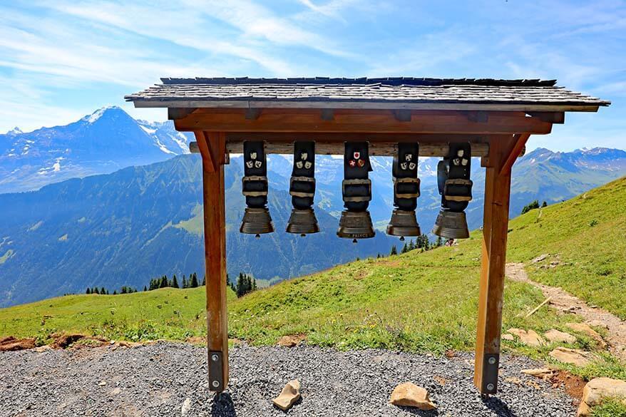 Swiss cow bells at Schynige Platte