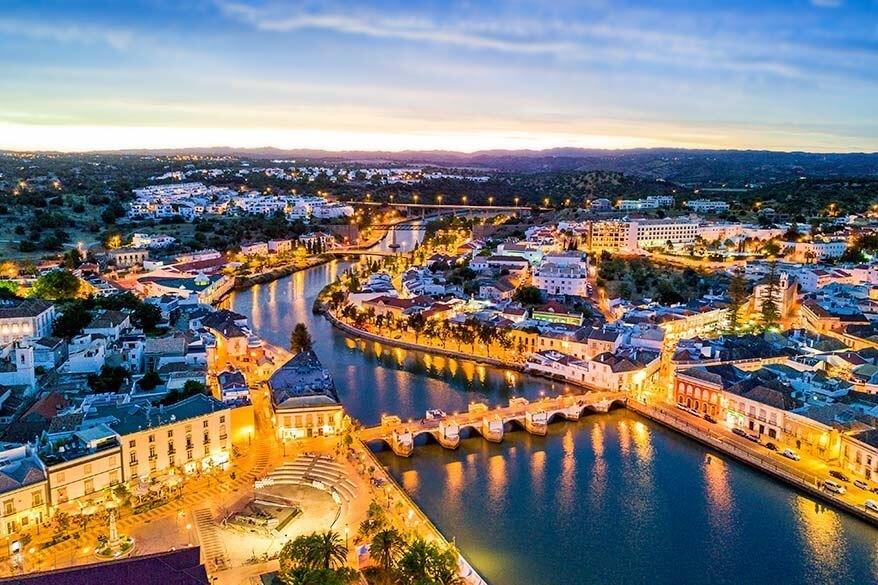 Tavira town in Portugal