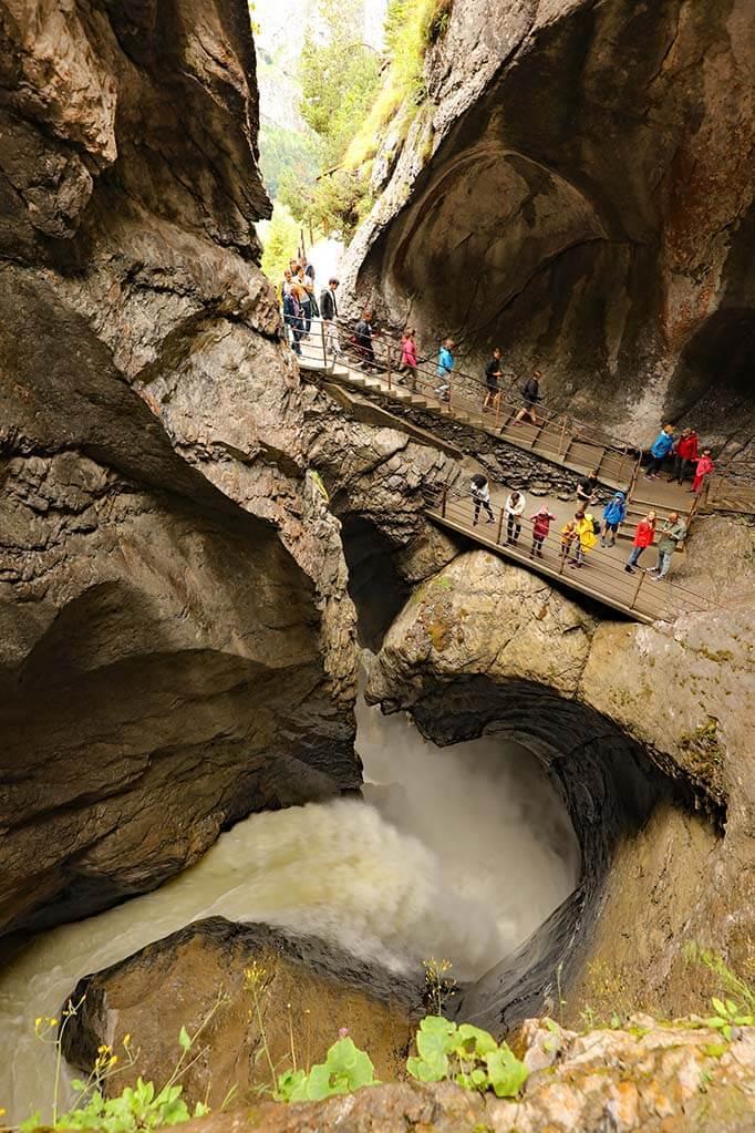 Trummelbach Falls in Switzerland