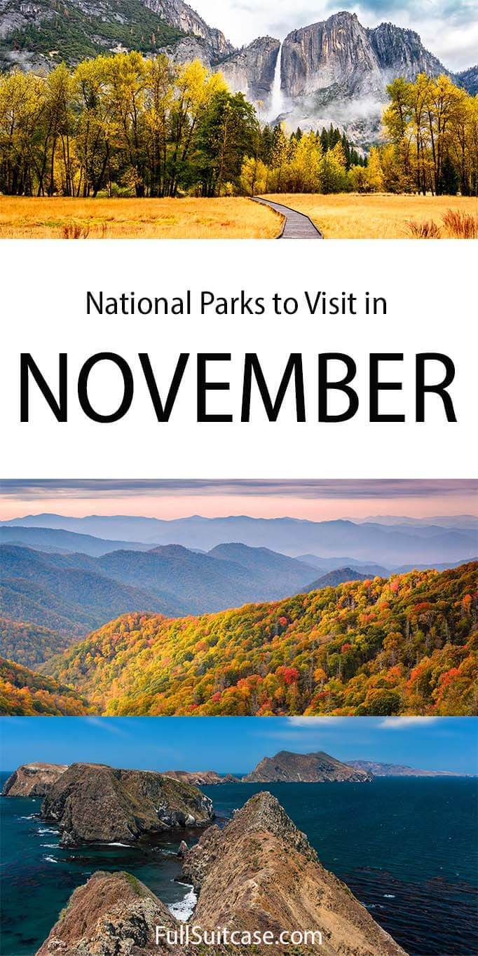 USA National Parks to visit in November