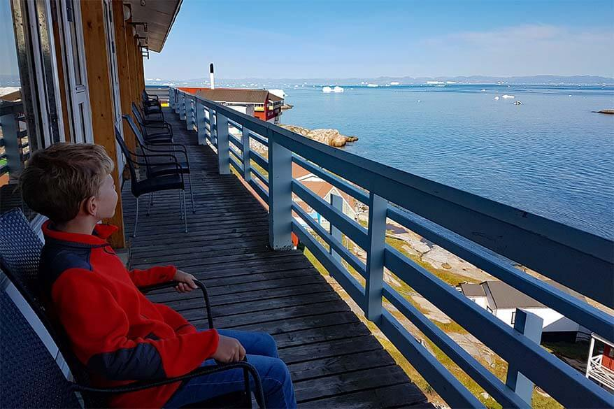 Where to stay in Ilulissat - choose a room with sea view