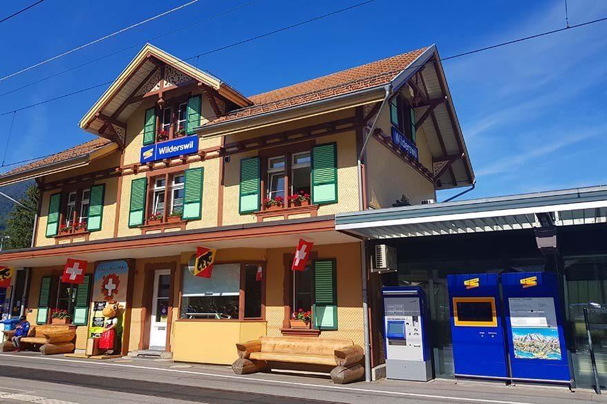 Wilderswil train station in Switzerland