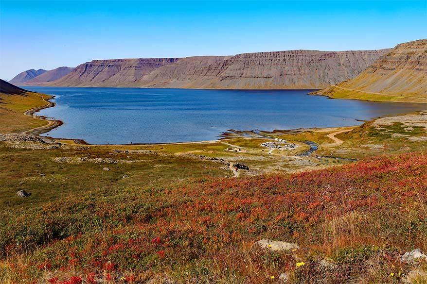 Arnarfjordur as seen from Dynjandi waterfall