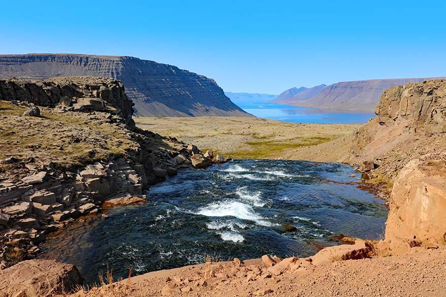 Arnarfjordur as seen from the road to Dynjandi