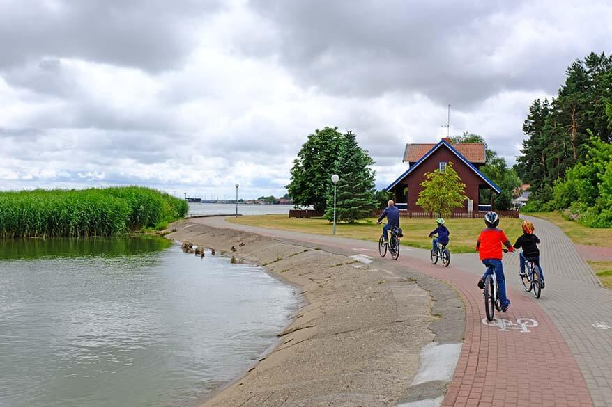 Bicycling in Nida Lithuania