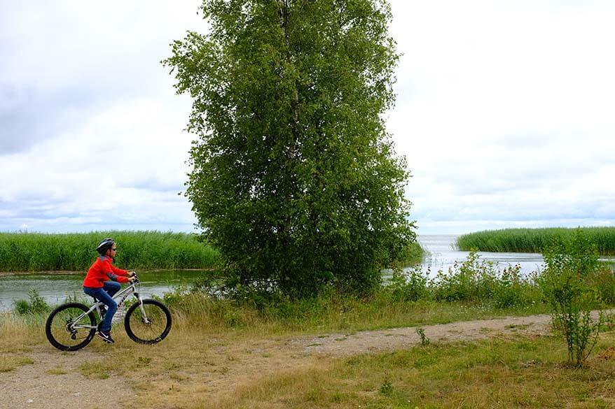 Biking on the Curonian Spit in Lithuania