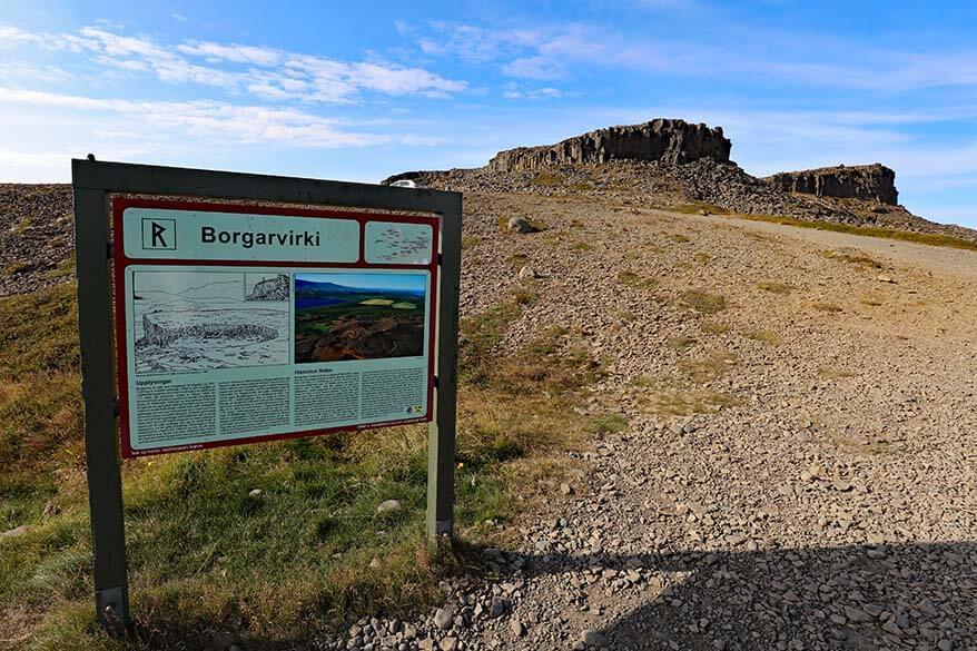 Borgarviki historic site in northwest Iceland