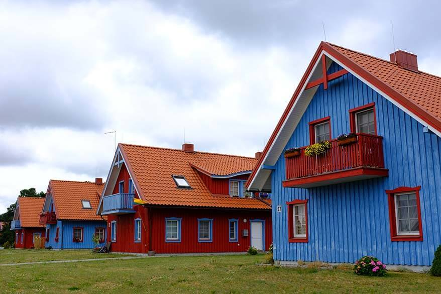Colorful houses in Nida, Lithuania
