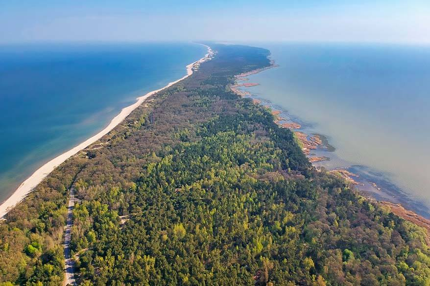 Curonian Spit aerial view