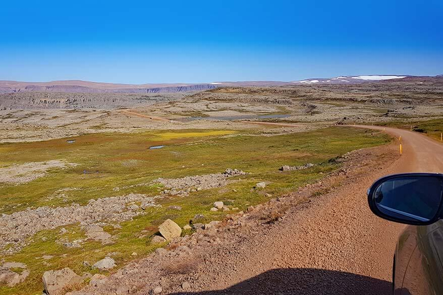 Driving in the Westfjords - road 60 to Dynjandi