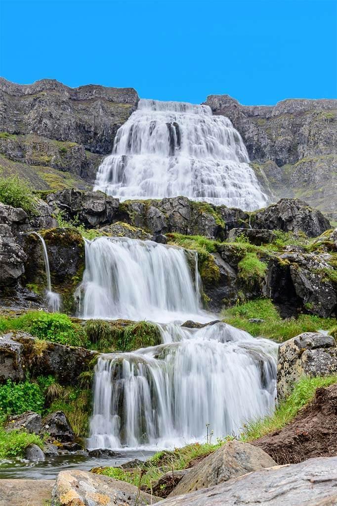 Dynjandi waterfalls in the Westfjords
