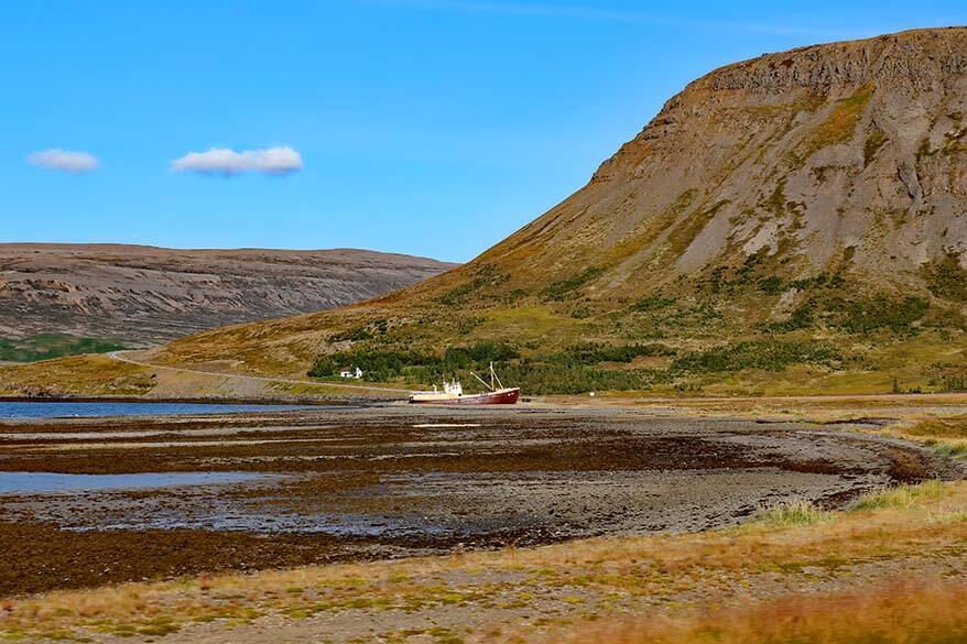 Gardar BA 64 - stranded ship in the Westfjords