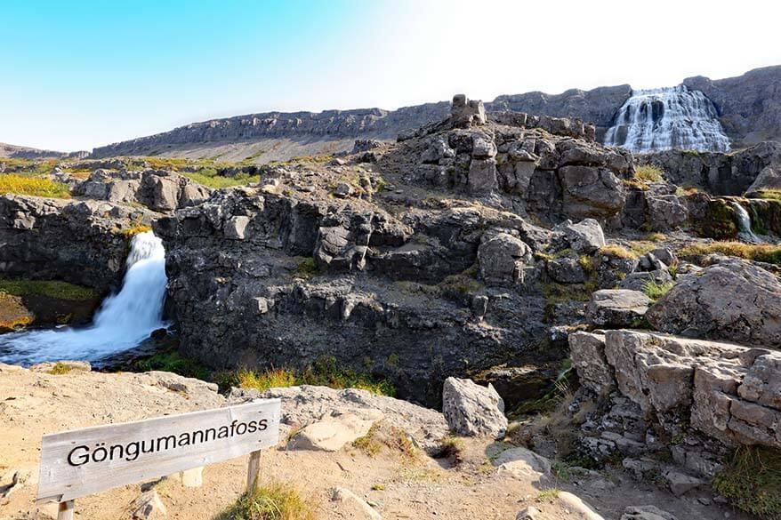 Gongumannafoss - one of the waterfalls at Dynjandi