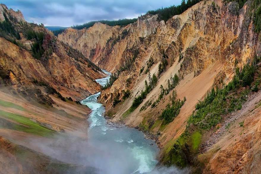 Grand Canyon of the Yellowstone seen from the Brinck of the Lower Falls