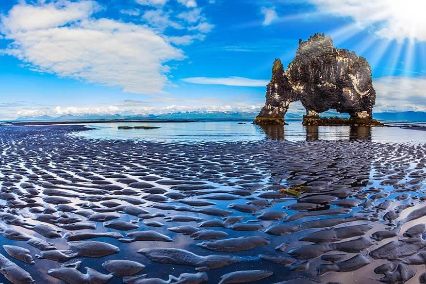Hvitserkur at low tide