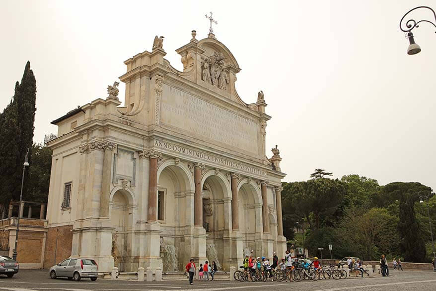Janiculum Hill in Rome is best explored with a bike tour