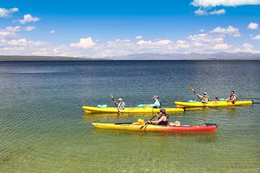 Kayak tour on Yellowstone Lake