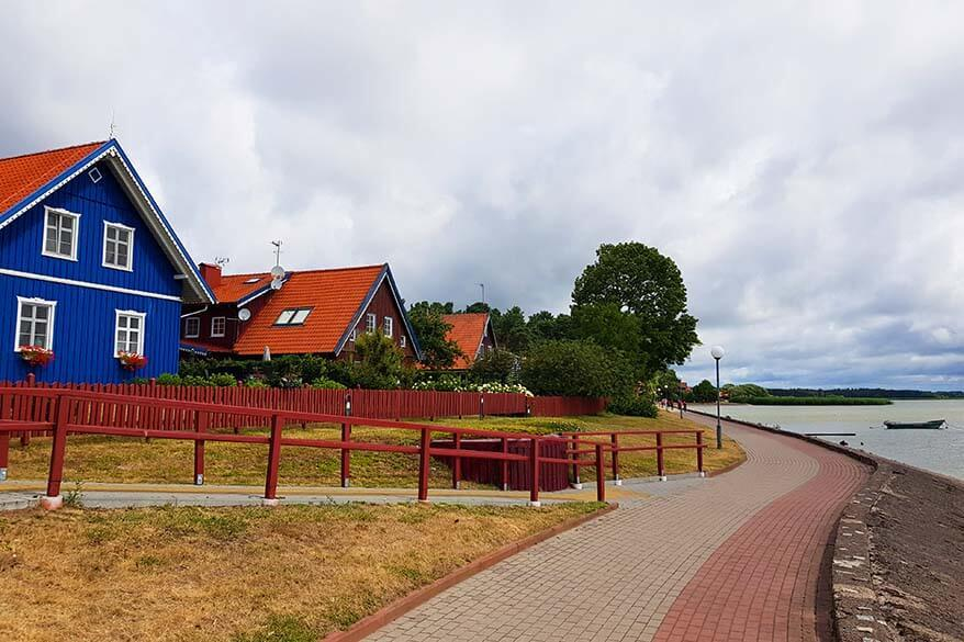 Nida, the biggest town of the Curonian Spit in Lithuania