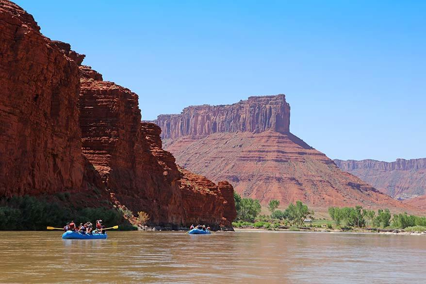 Rafting in Moab, UT