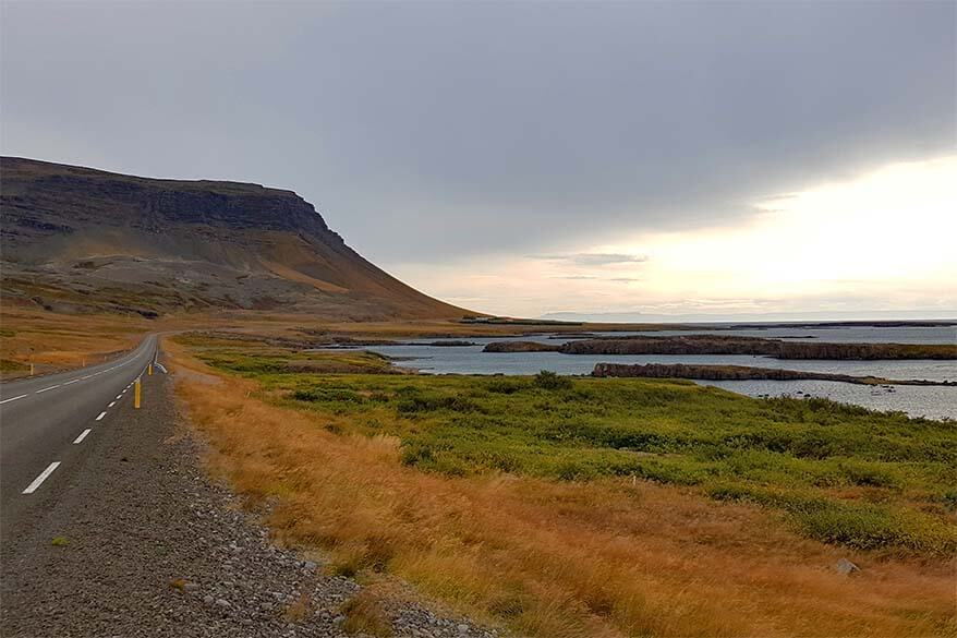 Road 60 in southern Westfjords Region
